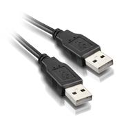 Cabo USB 2.0 AM-AM para Transferência de Dados 1,8m Preto 1 UN Elgin
