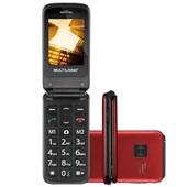 Celular Flip Vita Dual Chip MP3 Vermelho P9021 1 UN Multilaser