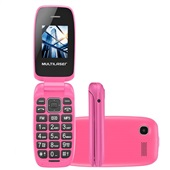 Celular Flip Up Dual Chip MP3 Rosa P9023 1 UN Multilaser