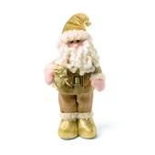 Papai Noel em Pé Presente Damasco 40cm 1350960 CX 1 UN Cromus