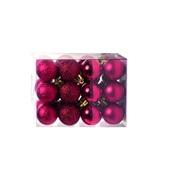 Conjunto de Bolas para Decoração Vermelho 3cm 1591320 JG 24 UN Cromus