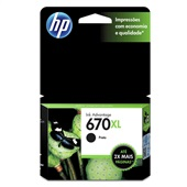 Cartucho HP 670XL 14ml Preto Original CZ117AB