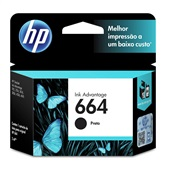 Cartucho HP 664 2ml Preto Original F6V29AB