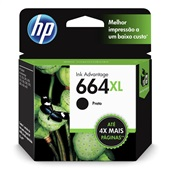 Cartucho HP 664XL 8,5ml Preto Original F6V31AB