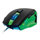 Mouse Gamer Warrior 3200 Dpi USB Verde MO245 1 UN Multilaser