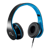 Headphone com Microfone Conector para P2 e PC Azul PH113 1 UN Multilaser