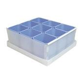 Caixa Organizadora 9 Divisórias Azul 26,2x24,4x10,2cm 1 UN Dello