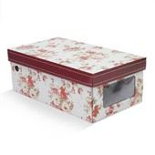 Caixa de Sapato Flower com Visor 30x17,5x11cm 1 UN Boxgraphia