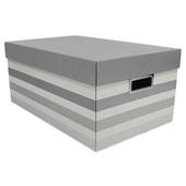 Caixa Organizadora Grande Facilit Stripes Cinza 46,5x29x21cm 1 UN Boxg