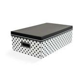 Caixa Organizadora Médio Balls Preto e Branco 39x27x12cm 1 UN Boxgraph