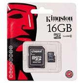 Cartão de Memória Micro SD 16GB com Adaptador 1 UN Kingston