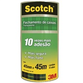 Fita Empacotamento Transparente Scotch 45mm x 45m 4 UN 3M