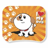 Mouse Pad I love My Dog 1127 1 UN Work Class