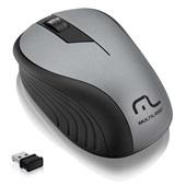 Mouse sem Fio 2.4GHz USB Preto e Grafite MO213 1 UN Multilaser