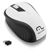 Mouse sem Fio 2.4GHz USB Preto e Branco MO216 1 UN Multilaser