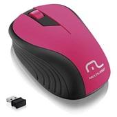 Mouse sem Fio 2.4GHz USB Preto e Rosa MO214 1 UN Multilaser