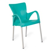 Cadeira Fixa Setúbal Verde Tiffany 1 UN Xplast