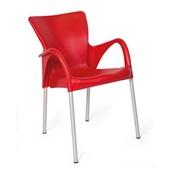 Cadeira Fixa Setúbal Vermelho 1 UN Xplast