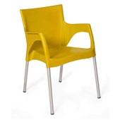Cadeira Fixa Santarém Amarelo 1 UN Xplast