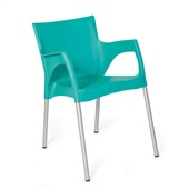 Cadeira Fixa Santarém Verde Tiffany 1 UN Xplast