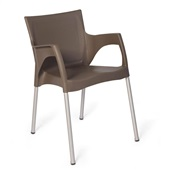 Cadeira Fixa Santarém Cinza Fendi 1 UN Xplast