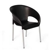 Cadeira Fixa Coimbra Preto 1 UN Xplast