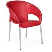 Cadeira Fixa Coimbra Vermelho 1 UN Xplast
