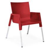 Cadeira Fixa Funchal Vermelho 1 UN Xplast