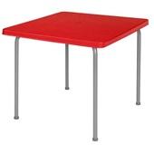 Mesa Borba Vermelha 73x80x80cm 1 UN Xplast