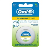 Fio Dental Essential Floss Hortelã 25m 1 UN Oral-B