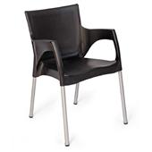 Cadeira Fixa Santarém Preto 1 UN Xplast