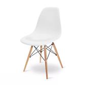 Cadeira Eames em Polipropileno Base Madeira Branca OR Design