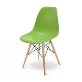 Cadeira Eames em Polipropileno Base Madeira Verde OR Design