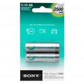 Pilha Recarregável Pequena AA 2500mAh 2 UN Sony