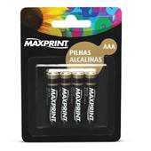 Pilha Alcalina Palito AAA 4 UN Maxprint