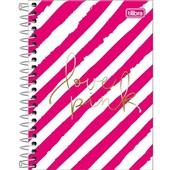 Caderneta Espiral Capa Dura 1/8 80 FL Love Pink B 1 UN Tilibra