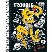 Caderneta Espiral Capa Dura 1/8 80 FL Simpsons A 1 UN Tilibra