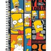Caderneta Espiral Capa Dura 1/8 80 FL Simpsons B 1 UN Tilibra