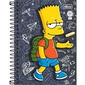 Caderneta Espiral Capa Dura 1/8 80 FL Simpsons C 1 UN Tilibra