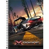 Caderno Espiral Capa Dura 1/4 80 FL X-Racing A 1 UN Tilibra