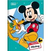Caderno Brochura Capa Dura 1/4 96 FL Mickey A 1 UN Tilibra