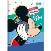 Caderno Brochura Capa Dura 1/4 96 FL Mickey B 1 UN Tilibra