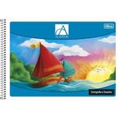 Caderno Cartografia e Desenho com Seda Capa Flexível 48 FL Académie 1 UN Tilibra