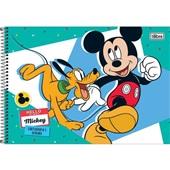 Caderno Cartografia e Desenho Capa Dura 96 FL Mickey A 1 UN Tilibra