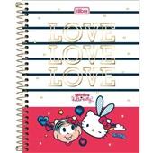 Caderno Colegial Capa Dura 80 FL Mônica e Hello Kitty 1 UN Tilibra