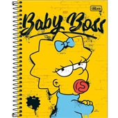 Caderno Colegial Capa Dura 80 FL Os Simpsons B 1 UN Tilibra