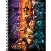 Caderno Universitário Capa Dura 80 FL Avengers Infinity War B 1 UN Tilibra