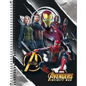 Caderno Universitário Capa Dura 80 FL Avengers Infinity War C 1 UN Tilibra
