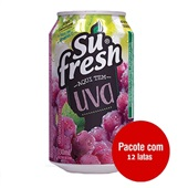 Suco de Uva 330ml Lata 12 UN Sufresh