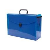 Maleta Arquivo Azul com 10 Pastas Azul Dello